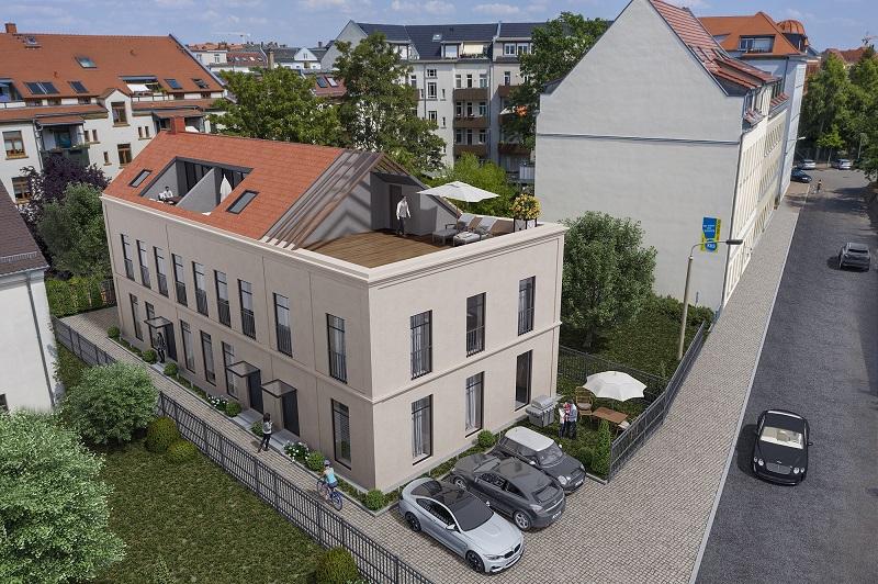 Visualisierung Dach und Terrasse